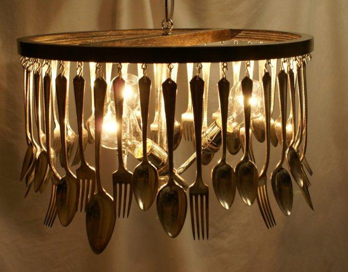 Оригинальная люстра для кухни.