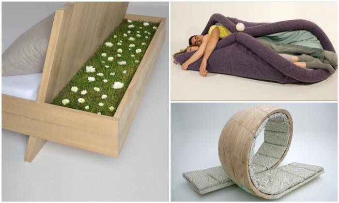 Креативные дизайнерские кровати.