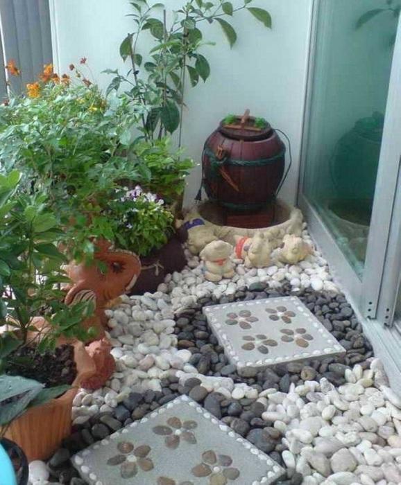 Мини-сад из камней.