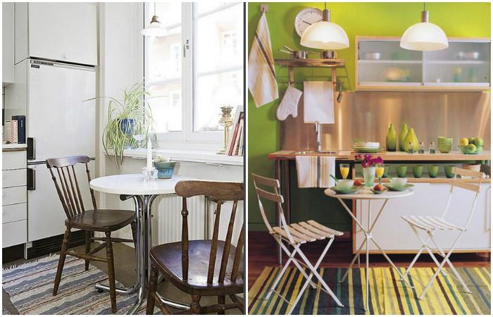 Мини-столик выглядит очень оригинально.