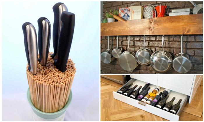 Идеи для хранения на кухне.