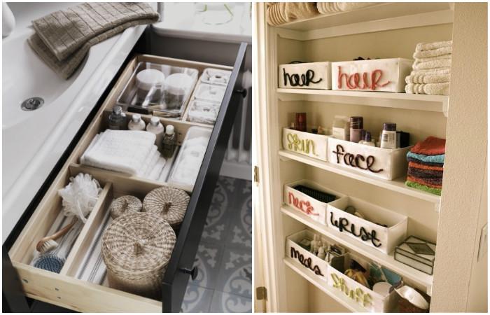 Разложить вещи по корбкам - отличное решение, экономящее время на поиске нужных вещей.