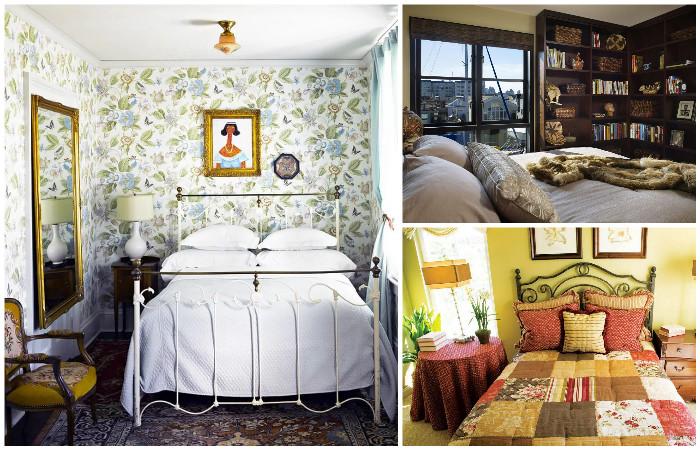 Уютные интерьеры для маленьких спален.