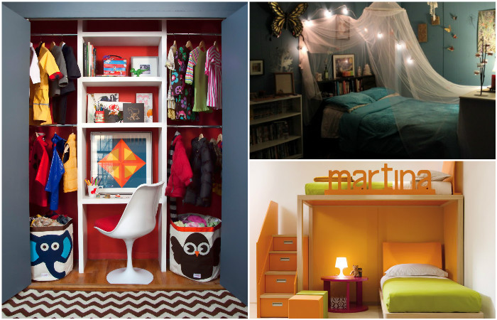 Идеи дизайна для маленькой спальни.