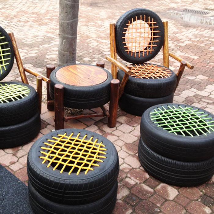 Мебель из шин.