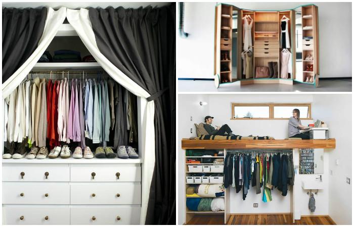 Идеи для мини-гардеробной.