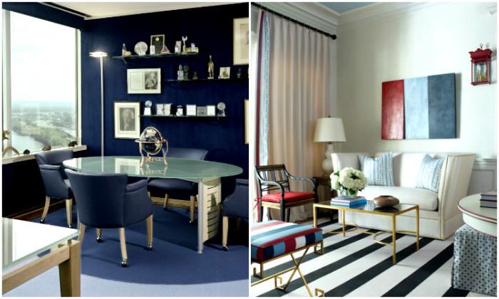Цветовые решения комнат сочетаются между собой.