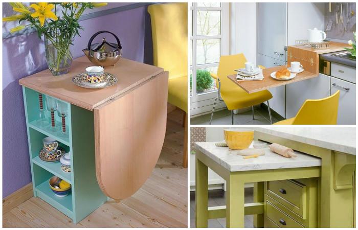 Столы для маленькой кухни.