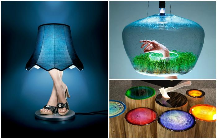 Необычные дизайнерские светильники.