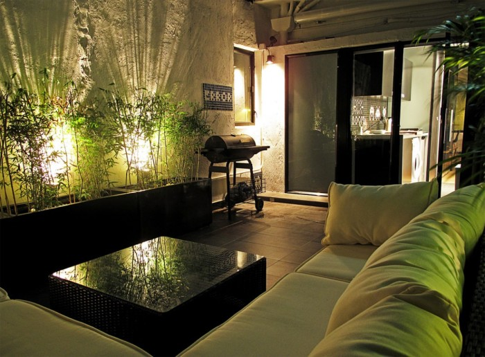 Квартира в зелено-коричневой гамме.