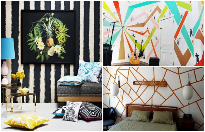 Идеи для необычной окраски стен.