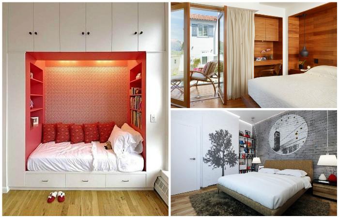 Великолепные интерьеры маленьких спален.