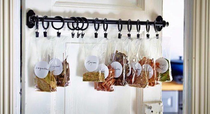 Хранение на кухне специй.