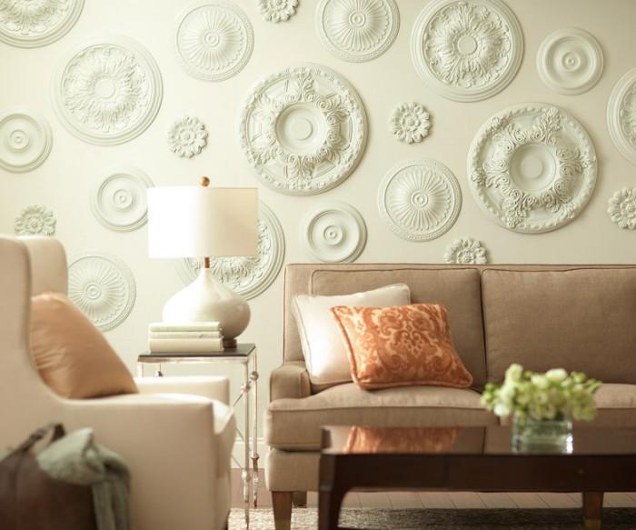 Потолочные розетки для отделки стен.