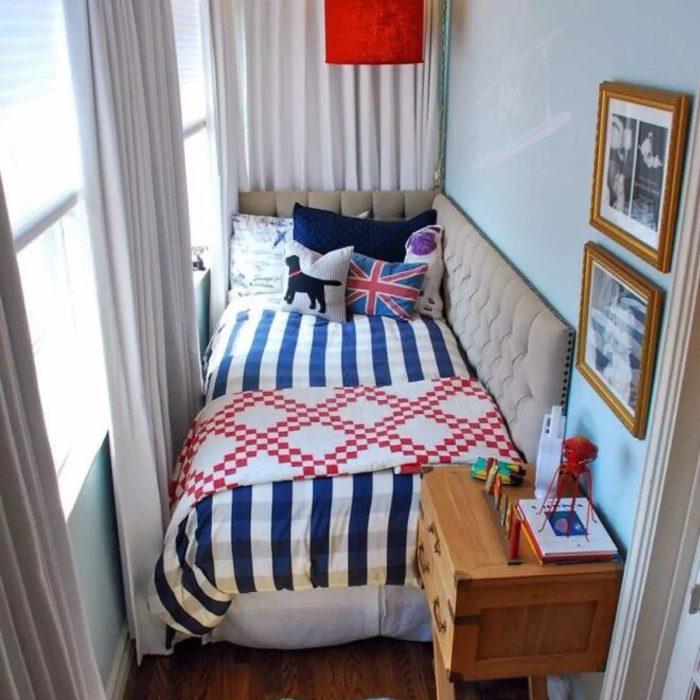 Спальня на лоджии.