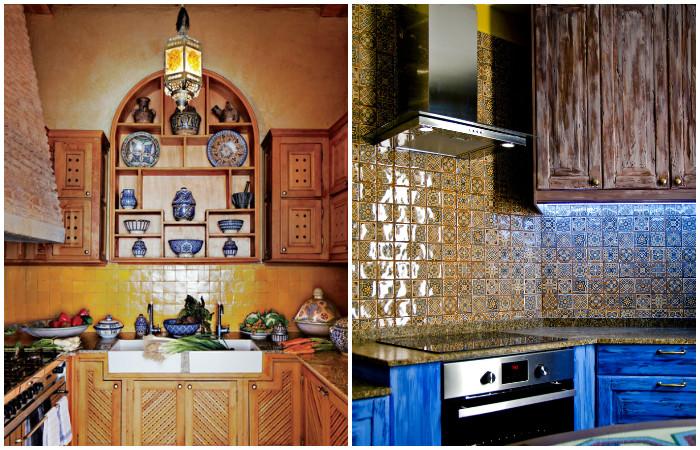 Марокканський стиль в інтер'єрі кухні.