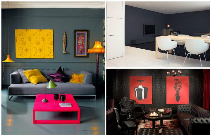 Дивовижні інтер'єри, де переважає темний колір.