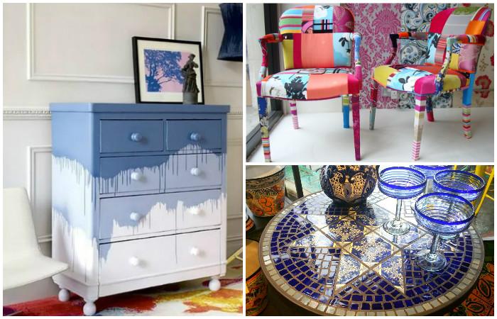 Идеи обновления старой мебели.