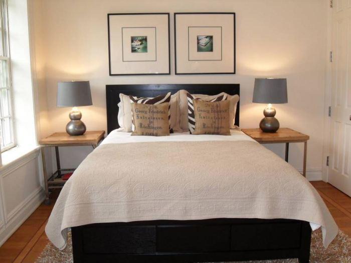 Симметричный дизайн спальни.