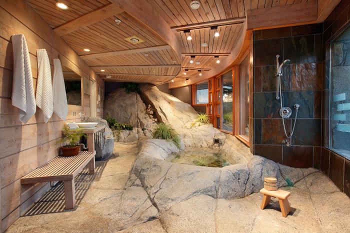 Ванная в эко-стиле.