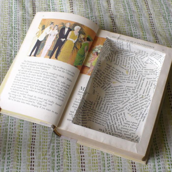 Поделки из старых книг - необычная шкатулка.