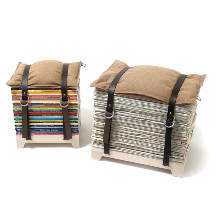 Прочные стулья из журналов.