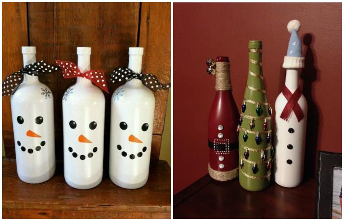 Разукрасить бутылки под силу даже ребенку.