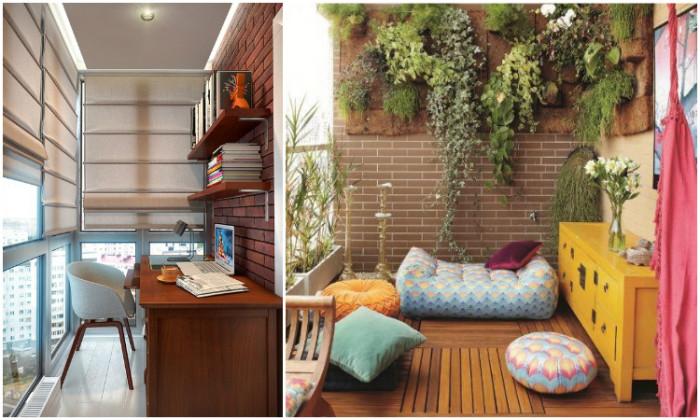 Вместо рабочего кабинета лучше обустроить на застекленном балконе релакс-зону.