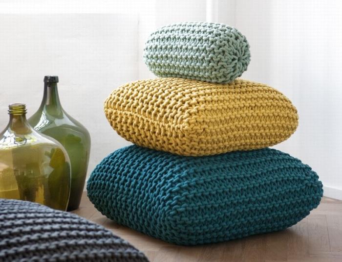 Пример использования подушек разного размера.