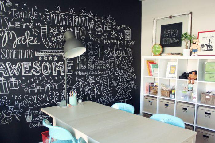 Стена - огромное поле для творчества в интерьере детской.