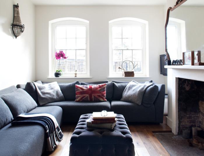 Крупная мебель уместна и в маленькой комнате.