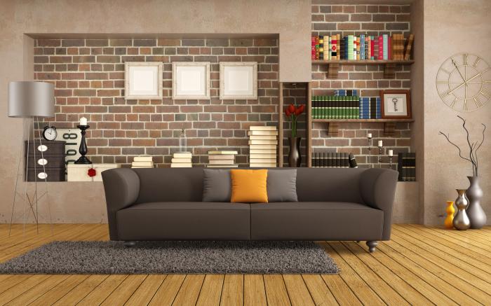 Ниши для оформления стены над диваном.