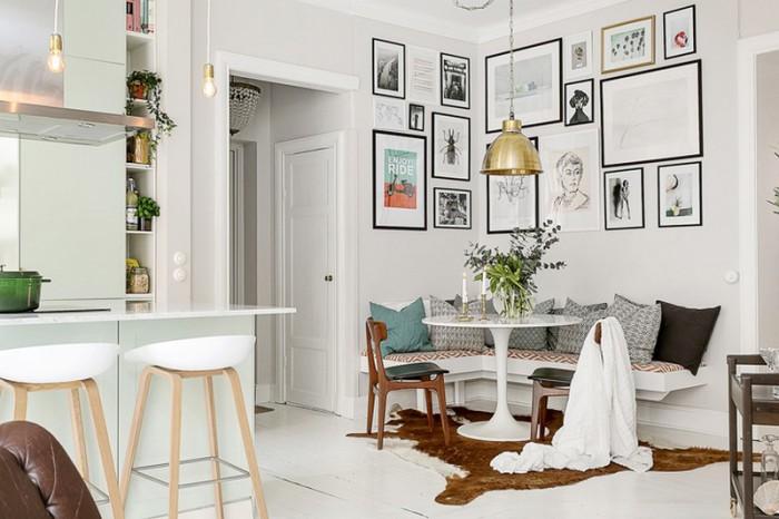 Картины - подходящий декор <i>картинки</i> для скандинавского интерьера.