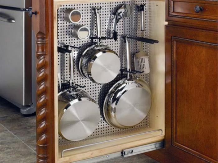 Хранение кухонной утвари.