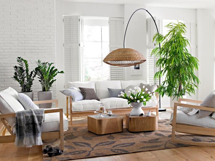 Живые растения сделают романтичным даже сдержанный интерьер.