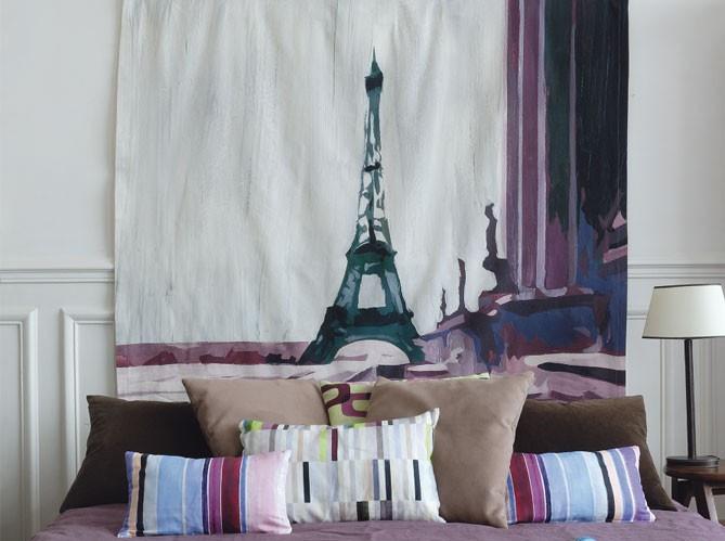 Текстильный декор в спальне.