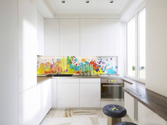 Минималистичную кухню легче всего содержать в чистоте.