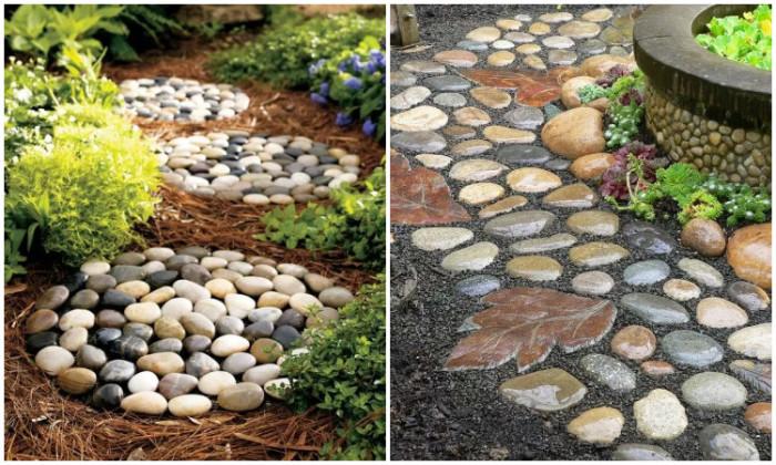 Дорожки, выложенные камнями.