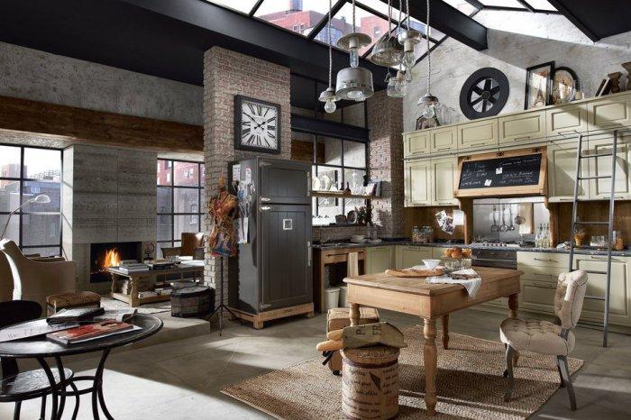 Кухня - полноценная часть жилого пространства, которую не нужно скрывать.