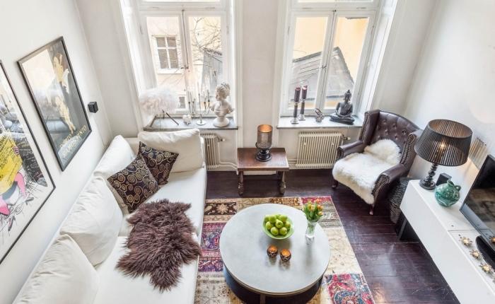 Винтажные элементы в интерьере маленькой квартиры.
