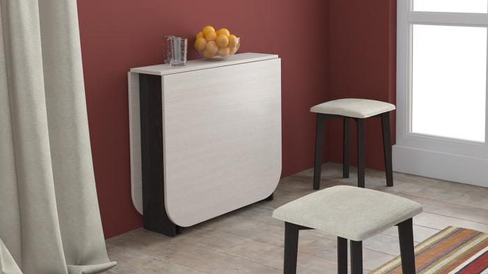 Стол-трансформер в интерьере кухни.