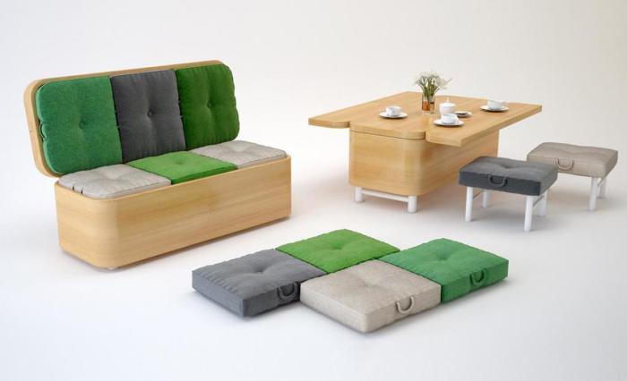 Мебель-трансформер никогда не надоест.