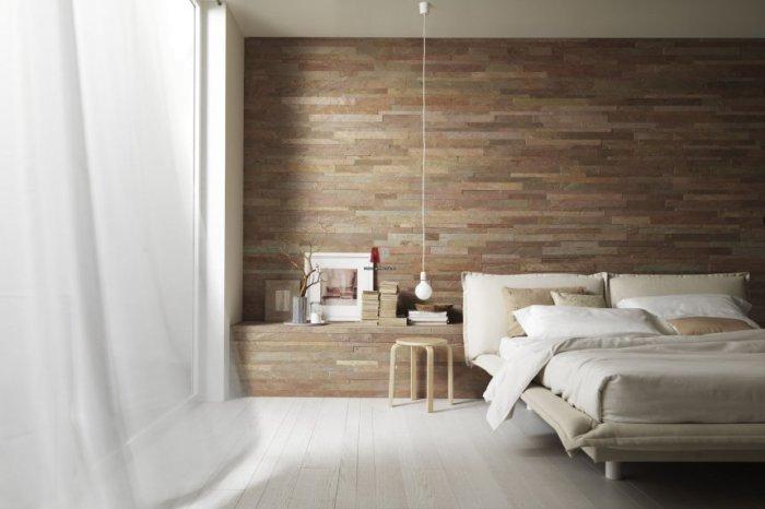 Натуральные материалы идеальны для спальни.
