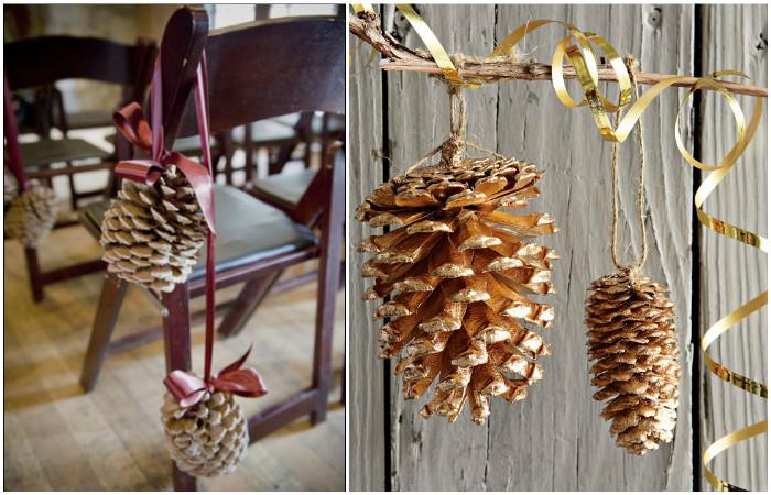 Что может быть новогоднее, чем шишки хвойных деревьев?