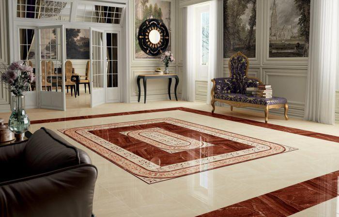 По эстетичности некоторая плитка конкурирует с ковром.