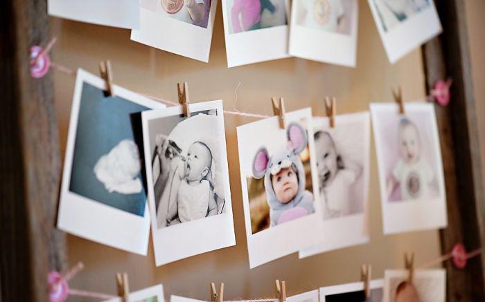 Деткие фото также могут стать элементами гирлянды.