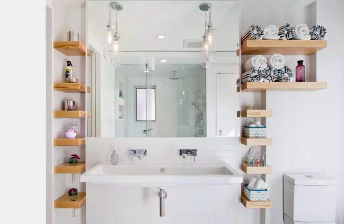 Хранение мелочей в ванной.