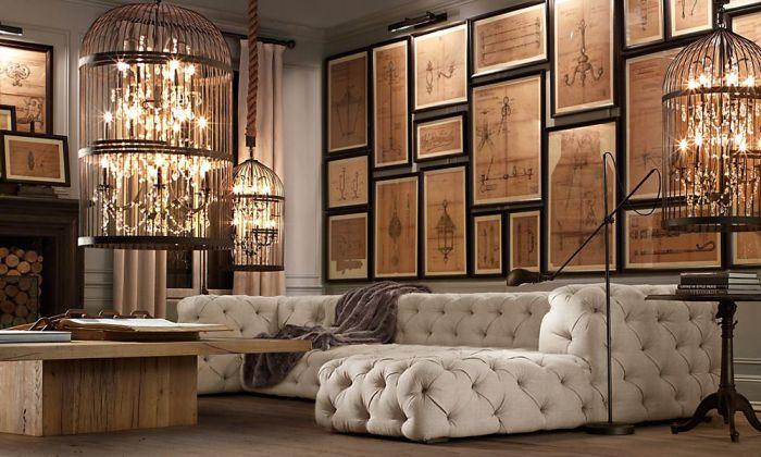 Сложная система освещения создает романтическую обстановку.