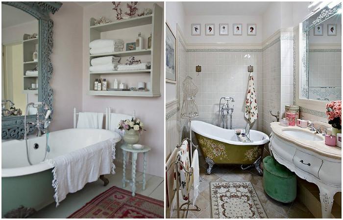 Романтические ванные комнаты.