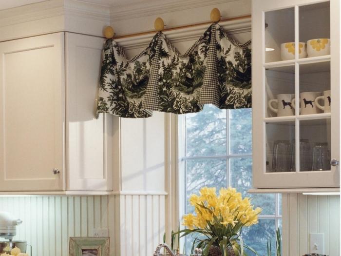Использование текстиля в интерьере кухни.